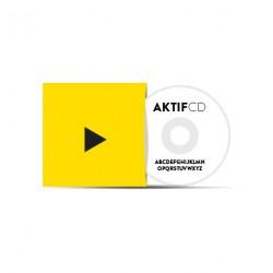 100 CD Sérigraphie Texte Pochette Carton Couleurs