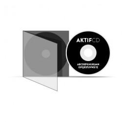 100 CD Sérigraphie Noir Vernis Boitier Slim CD