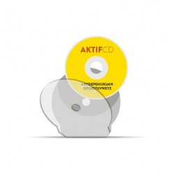 Shell CD Plastique Rond Incassable