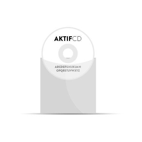 350 CD Sérigraphie Texte Pochette Plastique