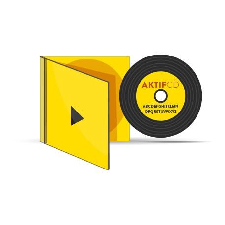 450 CD Look vinyle couleur vernis Boitier Cristal livret Jaquette