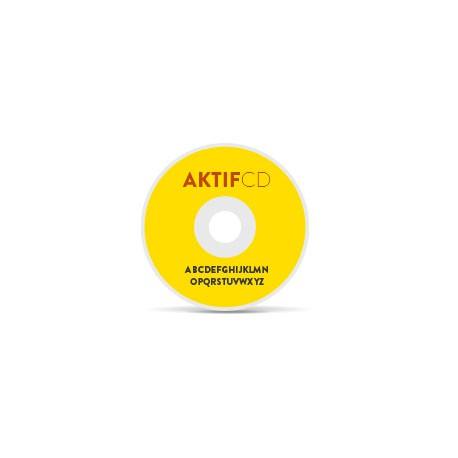 100 CD ou DVD  8 CM etiquette couleurs