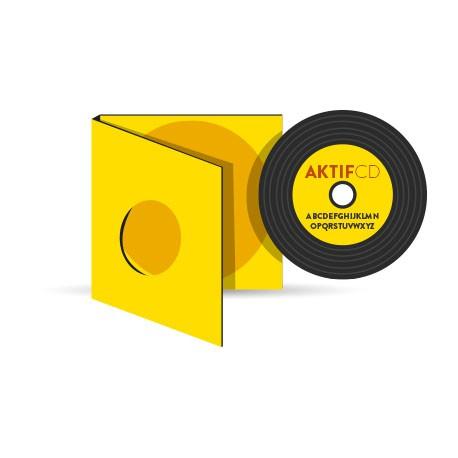 25 CD  vinyle couleur boitier digipack type vinyle