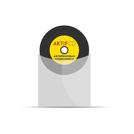 200 CD Look Vinyle couleurs vernis pochette plastique / papier