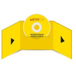 250 CD Sérigraphie couleurs Boitier digifile 3 volets 1 CD