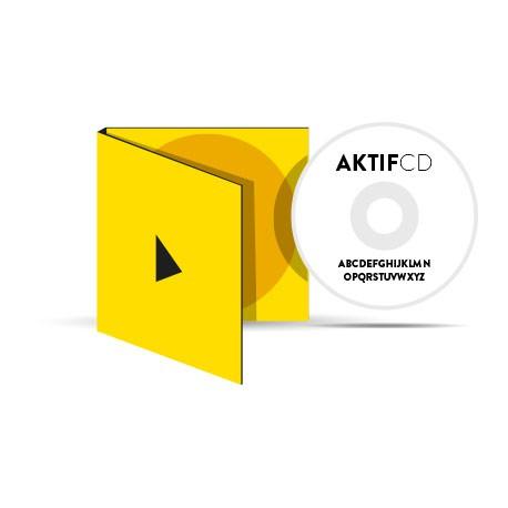 25 CD Sérigraphie Texte Boitier digipack 2 volets