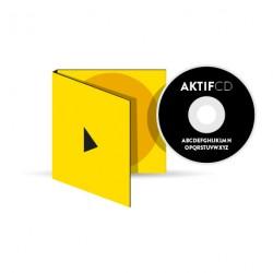 300 CD Sérigraphie noir vernis Boitier digipack 2 volets