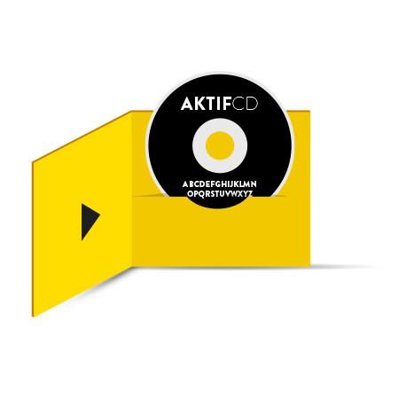 200 CD Sérigraphie noir vernis Boitier digifile 2 volets