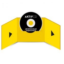 200 CD Sérigraphie noir vernis Boitier digifile 3 volets 1 CD