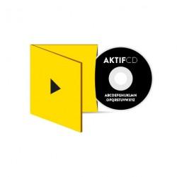 100 CD Sérigraphie noir vernis Boitier Digisleeve volets 1 CD