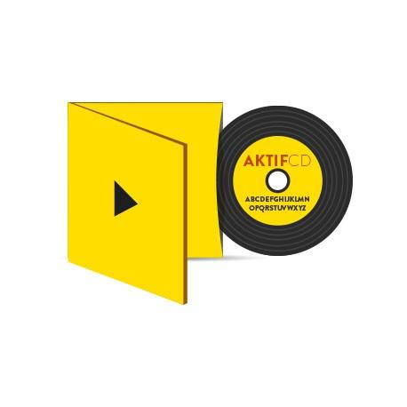 50 CD Look Vinyle couleurs vernis Digisleeve 2 volets