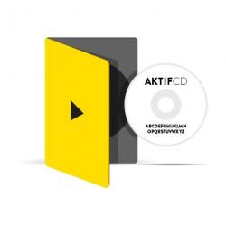 250 dvd Sérigraphie Texte Boitier Slim dvd jaquette 4/0