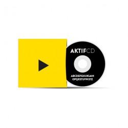 50 dvd Sérigraphie noir vernis Pochette Carton Couleurs