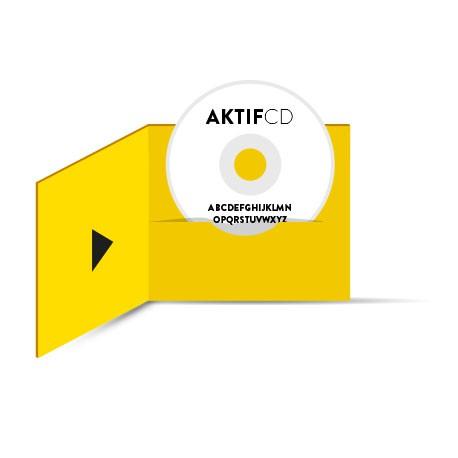 100 dvd Sérigraphie Texte Boitier digifile 2 volets