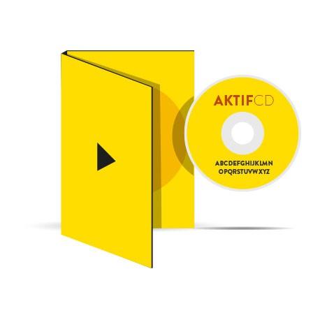 300 dvd Sérigraphie Couleur vernis Boitier digipack 2 volets