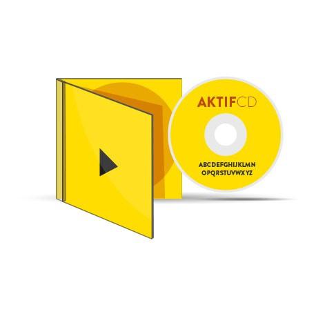 500 CD serigraphie couleurs vernis Boitier Cristal livret Jaquette