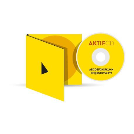 500 CD Sérigraphie couleurs Boitier digipack 2 volets