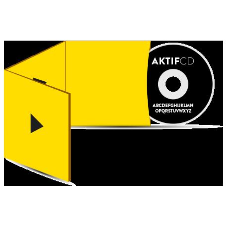 500 cd Sérigraphie noir vernis Boitier digisleeve 3 volets