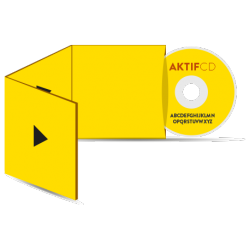 500 cd Sérigraphie couleur vernis Boitier digisleeve 3 volets