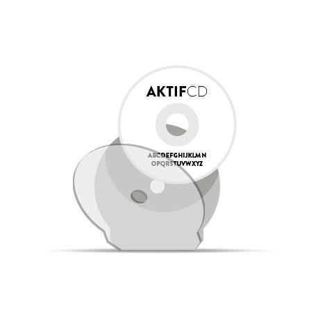 450 cd Sérigraphie texte shell cd
