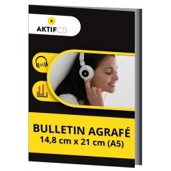 BULLETIN AGRAFÉ (A5) 14,8CM X 21CM